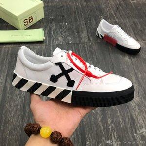 2020 Nuovo Vulc Low Top Sneakers Virgilio pelle scamosciata Mens piattaforma Scarpe Vulcs modo nero Bianco off Women della tela scarpe casuali formatori formato 38-45