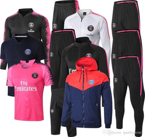 PSG pembe eşofman Marsilya Paris futbol Eğitim takım elbise 19-20 Real Madrid eşofman 2019 2020 MBAPPE LUCAS maillot de ayak ceket kiti