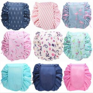 Makeup Bags Organizer Drawstring Cosmetic Bag Lazy Animal Flamingo Travel Make Up Pouch Storage Wash Bag Toiletry Beauty Kit Case Gift G4759