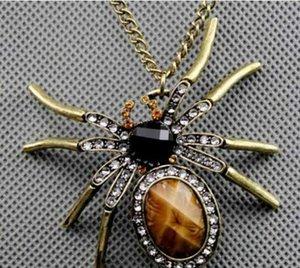 Europa y América del collar retro monedas de explosivos araña de diamantes, animales hembras, 20pcs cadena suéter / lot L618