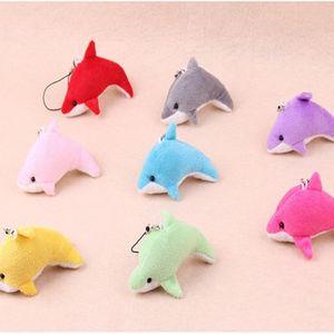 Belle Dolphin Mixte Couleur Mini Charms enfants mignons en peluche Jouets Party Pendentif Décorations cadeau EEA263