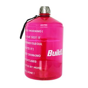BuildLife 1 Gallon Bouteille d'eau avec marqueur de temps 128 Ounce / 73OZ / 43OZ BPA en plastique de grande capacité Livraison gratuite cruche d'eau