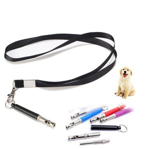 Colorful Candy Color Dog Whistle Stop Barking Silent Ultrasonic Sound Repeller Train Training With Strap SN780