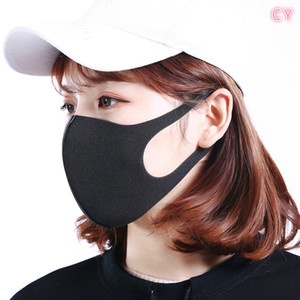 [Spot] 1 5 10 piece of home essential washable black mask sponge ice silk fashion adult unisex dust-proof environmental protection.#BB fgg