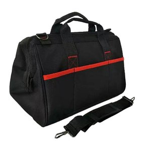 16 inch Tool Bag Heavy Duty Tool Storage Bag with 600D Canvas, Wide Open Mouth, Zip-Top and Wear Resistant Rubber Base