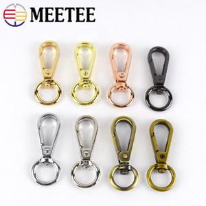 Meetee 13mm Metal Tokalar Çanta Askı Istakoz Klipsler Köpek Yaka Anahtarlık Döner Tetik Klipler Yapış Hooks DIY aksesuarları