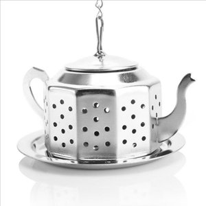 Teapot Pot Shape Stainless Steel Leaf Tea Infuser Filter Strainer Ball Spoon 6*5.5*3.5cm fast shipping F20171021