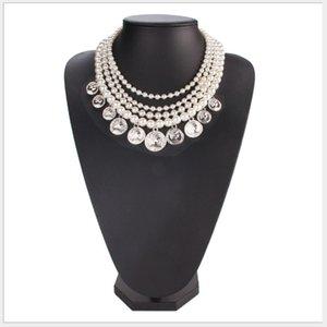 Blingbling Partei Schmuck Damen Temperament mehrschichtiges künstliche Perlenkette süßes Kleid wilde Münzen Quaste Artikel beschmutzt Großhandel