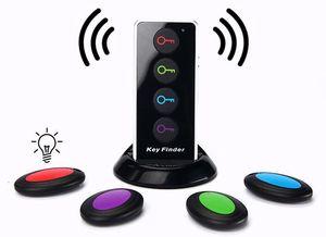 Key Finder Wireless RF Locator Item Tracker دعم عنصر التحكم عن بعد ، مرسل RF و 4 مستقبلات - محدد موقع RF اللاسلكي