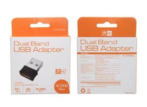 Nuevo MINI AC1200 1200M doble frecuencia 2.4G 5.8G Gigabit red inalámbrica tarjeta de interfaz USB3.0