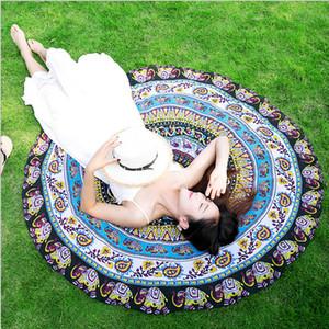 Bohemian Mandala Круглый Пляж Гобелен Хиппи Throw Полотенце Одеяло Покрывало Мат 150см Dia пляжное полотенце Одеяло для пикника Yoga Mat