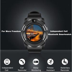 V8 smart watch relógios bluetooth android com dz09 gt08 smartwatch para apple smartwatch para ios android com câmera