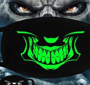 Masque Visage lumineux Halloween Party squelette Masques anti-poussière dents Glow bouche Masque noir dans la nuit crâne masques mascarade cosplay GGA3514-4