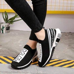 2020 zapatillas de deporte del calcetín de las nuevas mujeres de los zapatos ocasionales de lujoDolceGabbanaCalidad superior de cuero genuino bordado EUR 35-45 A1