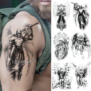 eauté Santé Crâne guerrier samouraï de tatouage temporaire autocollant Ares Mars Ailes étanche Tatto Hero Viking Body Art Bras Faux Tatoo hommes Wo ...