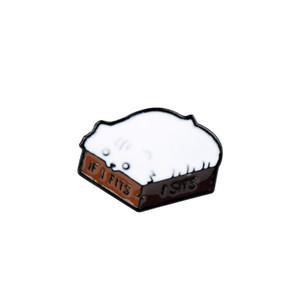 Chat Laine mignon Broche fantaisie boule du fil émaillé Pin Pull Hat Badge Fils et Chats Cadeaux d'amants