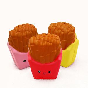 Decompressione gioca PU per Big bambini Bambini Cognition lento ritorno Fries Squishy Simulazione francesi tre colori disponibili