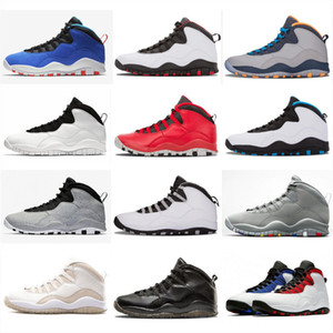 Jumpman 10 Tinker Çimento Westbrook 2006'nın Sınıfı Im Geri Serin Gri Erkek Kadın Retro Basketbol Ayakkabıları Sneakers 10s X Spor Tasarımcısı Ayakkabı.