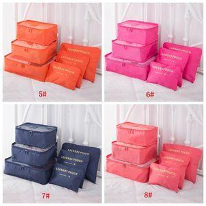 6pcs Set Travel Makeup Bag Home Luggage Storage Clothes Storage Organizer Portable Cosmetic Bags Bra Underwear Pouch Storage Bags DBC BH3266