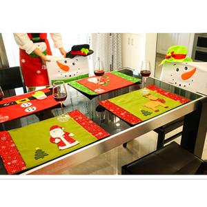 Noël Creative Couverts de Noël Snowman Santa Elk Restaurant Hôtel Décorations de Noël Tapis de table en tissu couteau fourchette sac Art de la table