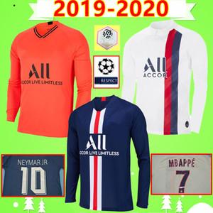 psg soccer jersey 19 20 maillots de pé Mbappé camisa de futebol de manga comprida CAVANI PARIS Verratti luva cheia 2019 camisa de futebol 2020 SILVA Camiseta