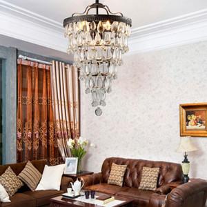 Retro vintage cooper gotas de cristal E14 LEVOU lustres / LARGE ESTILO de ESTILO europeu lustres lustre de Iluminação para sala de estar