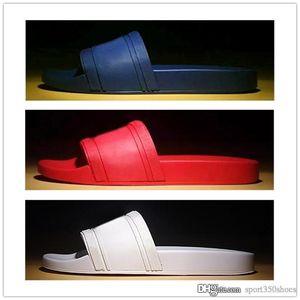 Top Quality Men Beach Slide Sandals Medu Scuffs Slippers Mens Red Beach Fashion slip-on designer Men women sandals Designer Shoes Size 39-46