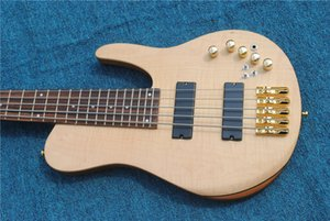 5 strings electric bass guitar black pickups gold color hardware rosewood fingerboard high quality electric bass