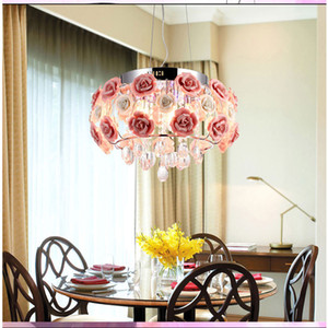 E14 LED 램프 9068 부엌 럭셔리 호텔 객실 장미 꽃 입구 현관 조명 현대 크리스탈 샹들리에 램프