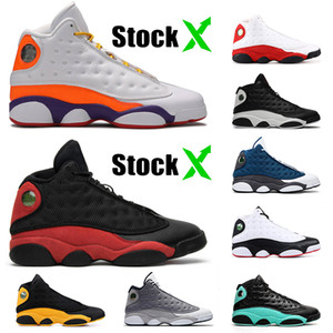 High Quality Stock x Jumpman 13 13s Mens Basketball Shoes Island green Chicago Bred Flint Playground Luxury Fashion womens Mens Trainers