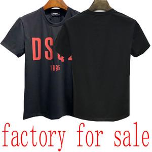 24ss de lujo de los hombres de la camiseta de las Bermudas Europea hip-hop impresa de manga corta de la camiseta del verano del nuevo algodón del cuello de la camisa de los hombres casuales ronda