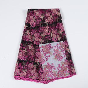 tessuto di pizzo all'ingrosso tessuto di pizzo 3d fiore africano ricamato in tulle tessuto netto del pizzo bella tessuto per bf0041 partito
