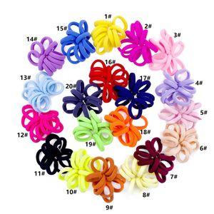 Katı At Kuyruğu Tutucu Saç Scrunchies Elastik Saç Havlu Bantları Scrunchy Saç Kravatlar Kadınlar Kızlar Için Halatlar Bilezikler Scrunchie 20 Renkler E21701