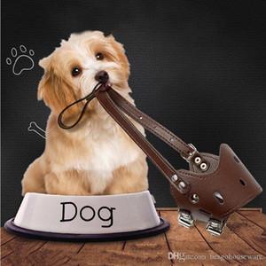 Ayarlanabilir Köpek Karşıtı Isırma Maske Pet Koruyucu Ağız Kapak Anti Bark PU Nefes Yumuşak Ağız Namlu Bakım Durdur XSbedeni M.Ö. BH0979 Chew