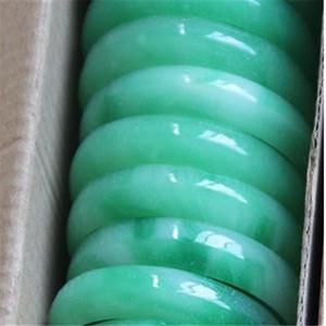 Lot Jewelry 2pcs jade green gemstone Vintage bracelets bangle charm v120
