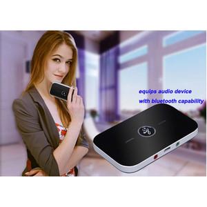 B6 2-в-1 Беспроводной Bluetooth Аудио Передатчик Приемник с 3,5 мм Портативный A2DP Музыкальный Стерео Адаптер для ТВ Mp3 ПК автомобиля