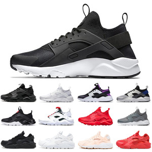 huarache run ultra running shoes men women triple black white red huaraches runners mens womens trainers sports sneakers size 36-45