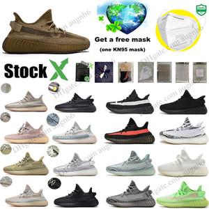 Salvia del deserto Terra Kanye West 3M nero riflettente Statico Cinder Yechiel Argilla Tail Marsh Glow Cream Bred Running Shoes Designer Sneakers 5-13