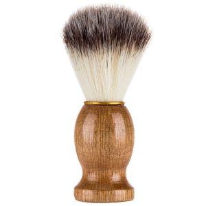 Мужская бритвенная щетка Барсук волос деревянная ручка парикмахерская салон мужчины лица борода чистящий прибор бритья инструмент HHA640