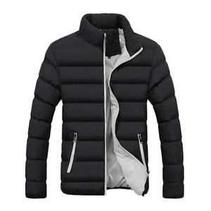 Jacket Men Winter Warm Hooded Zipped Overcoat Outerwear Solid Fleece Cotton Men's Jacket chaqueta hombre 18OCT30