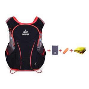 AONIJIE 5L Outdoor Sport Running Vest Backpack Women Men Hydration Vest Pack for 1.5L Water Bag Cycling Hiking Bag