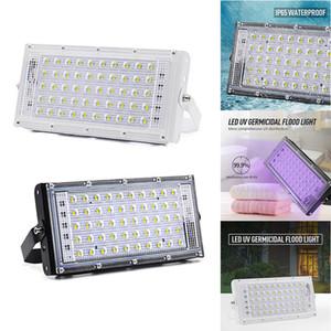 50W UV Mikrop öldürücü Lambası 110V 220V LED Taşkın Işık Ev UV lamba Işık Sterilizasyon Dezenfeksiyon Ultraviyole öldür Toz Bakteri Akar Öldürücü