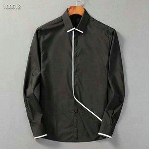 Luxury Mens Designer Long Sleeve Shirts Firmate Business Dress Shirts Fashion Casual Brand Shirt Print Slim Shirt Homme Button Up Tops 054