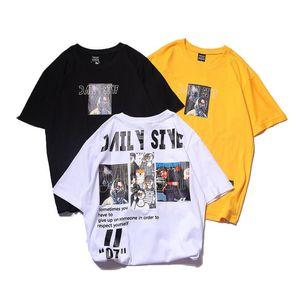 New Summer Mens T Shirts Fashion Short Sleeve Printed Tees Skate Hip Hop Sport Designer T Shirt