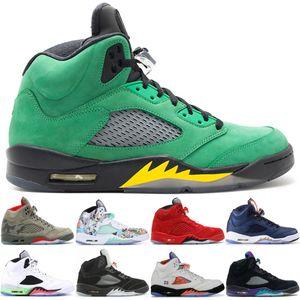 2020 Best 5 5s Herren Basketballschuhe Camo Light Aqua Oregon Ducks Schwarz Metallic Top Qualität Herrenschuhe Sport Sneaker 36-47