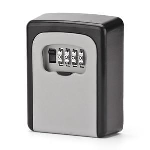키 스토리지 주최자 박스 4 자리 벽 장착 암호 작은 금속 비밀 안전 게임 방 탈출 소품 코드 잠금