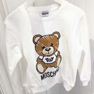 أطفال مصمم البلوز الفاخرة الدب نمط الفتيات البلوفرات النشطة بنين هوديس العلامة التجارية للأطفال ملابس بالجملة تشايلدز البلوزات