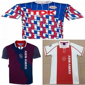1989 1990 ajax retro soccer jersey 1998 Bergkamp Aron Winter De Boer Blind 1994 1995 ajax away vintage classic old football