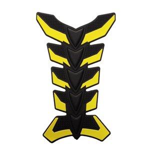3D di gomma giallo del motociclo Oil Gas rilievo del carro armato Fish Bone Protector della decalcomania degli autoadesivi