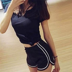 Femmes Brillant taille haute piste Short Summer Fashion Designer Yoga Fitness stretch Leggings Famale Shorts